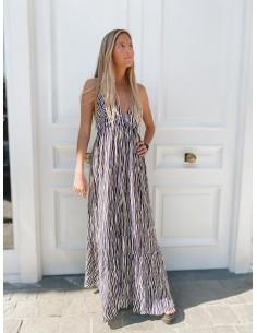 1706CLD600 Zebra Odyssey Long Dress Dress